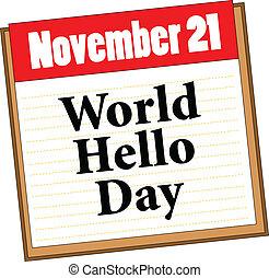 mondiale, bonjour, jour