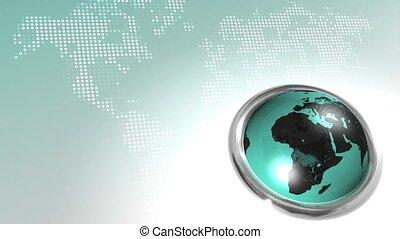 mondiale, bouton, hd, boucle, carte