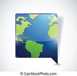 mondiale, bulle discours, carte