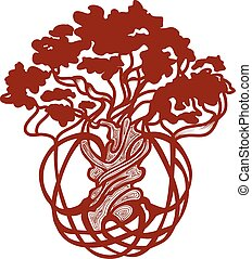 mondiale, celtique, arbre
