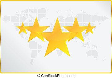 mondiale, cinque, qualità, stelle, scheda