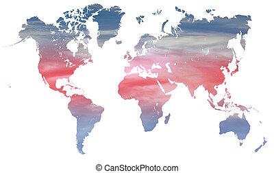mondiale, climat, température