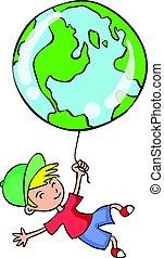 mondiale, collection, enfant