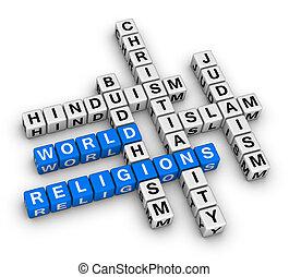 mondiale, commandant, religions