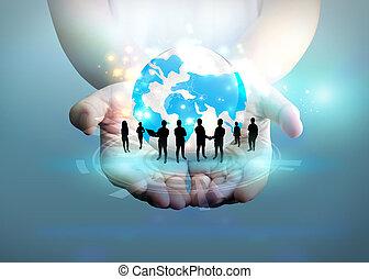 mondiale, concept., business