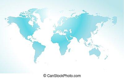 mondiale, concept, carte