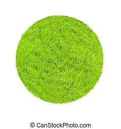 mondiale, concept, herbe verte, couvert
