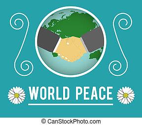 mondiale, concept, paix