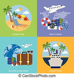 mondiale, concept, tourisme