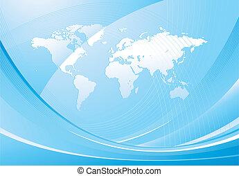 mondiale, conception abstraite, carte