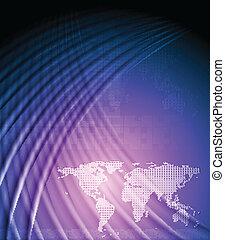 mondiale, conception, high-tech, carte