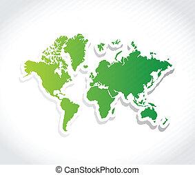 mondiale, conception, illustration, carte