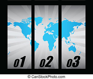 mondiale, conception, spécial, carte