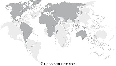 mondiale, -, continents, carte