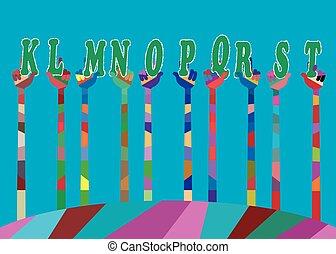 mondiale, couleurs, a, lot, joie, notre