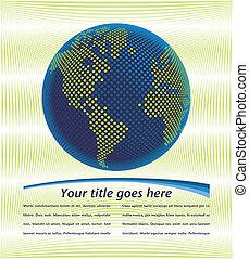 mondiale, design., numérique, carte
