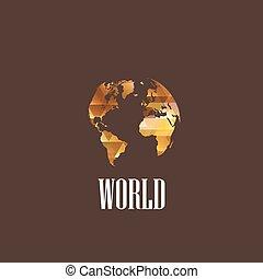 mondiale, diamant, illustration, icône