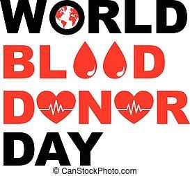 mondiale, donateur, conception, sanguine, jour
