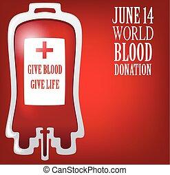 mondiale, donation, sanguine, jour