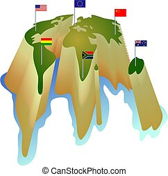 mondiale, drapeau