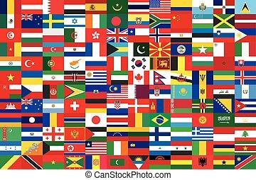 mondiale, drapeaux, fond