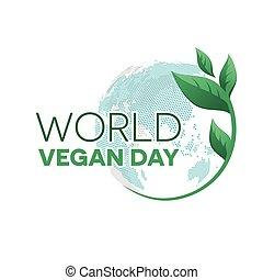mondiale, emblème, jour, vegan