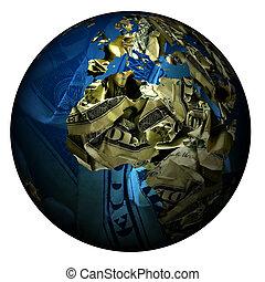 mondiale, fait, argent