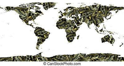 mondiale, fait, billets dollar