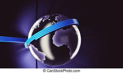 mondiale, fibre optique