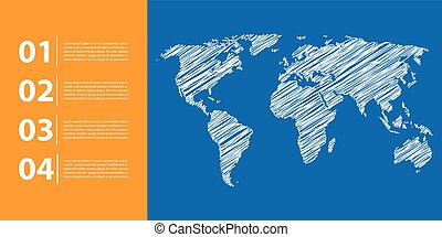 mondiale, fond, carte, business, infographics