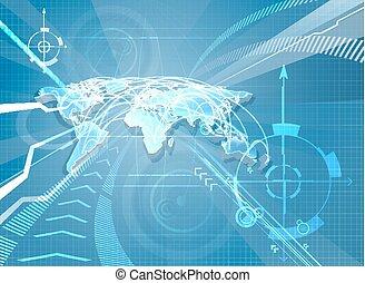 mondiale, fond, carte