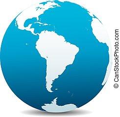 mondiale, global, amérique sud