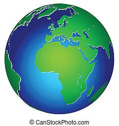 mondiale, global, terre planète, icône