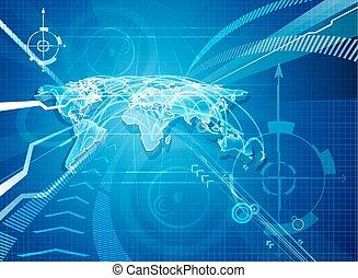 mondiale, globalisation, fond, carte