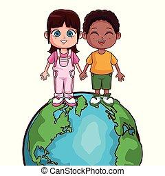 mondiale, gosses, économie