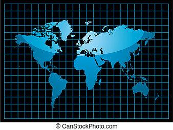mondiale, grille, noir