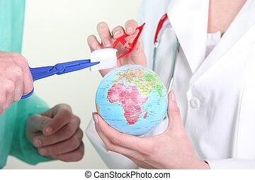 mondiale, guérison, médecins