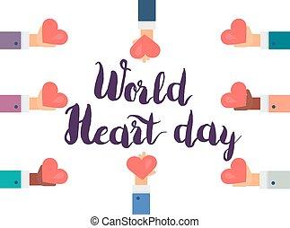 mondiale, jour, coeur