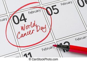 mondiale, jour, février,  cancer,  4