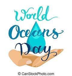 mondiale, jour, océan
