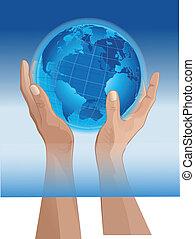 mondiale, mains