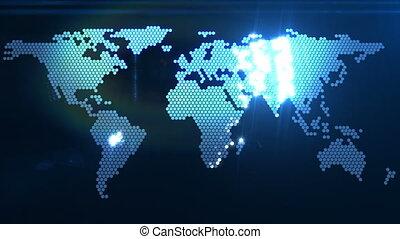 mondiale, numérique, carte