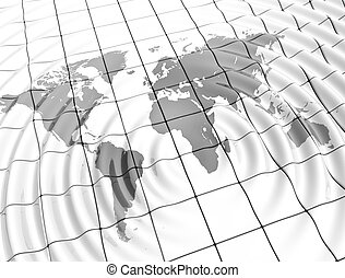 mondiale, ondulations, carte