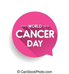 mondiale, parole, jour, cancer, bulle