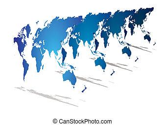 mondiale, perspective, carte