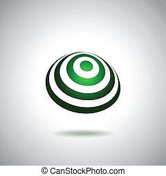 mondiale, peu, vert, logo