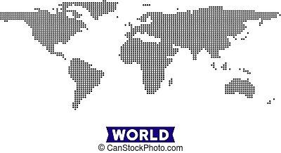 mondiale, point, carte