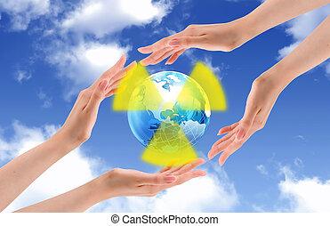 mondiale, protéger, radioactive.