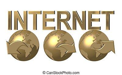 mondiale, réseau, autour de