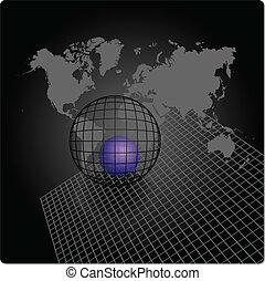 mondiale, résumé, fond, carte